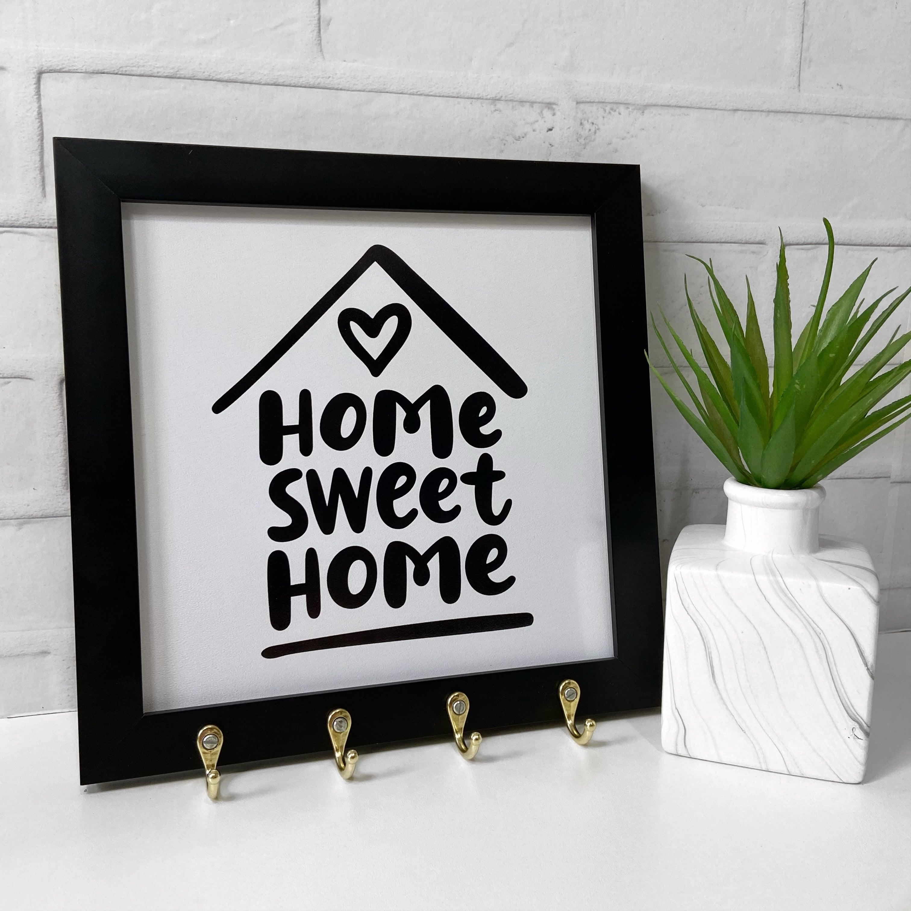 Quadro Porta Chaves - Home sweet home 2
