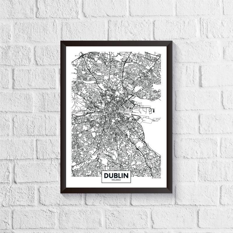 Quadro Mapa - Dublin