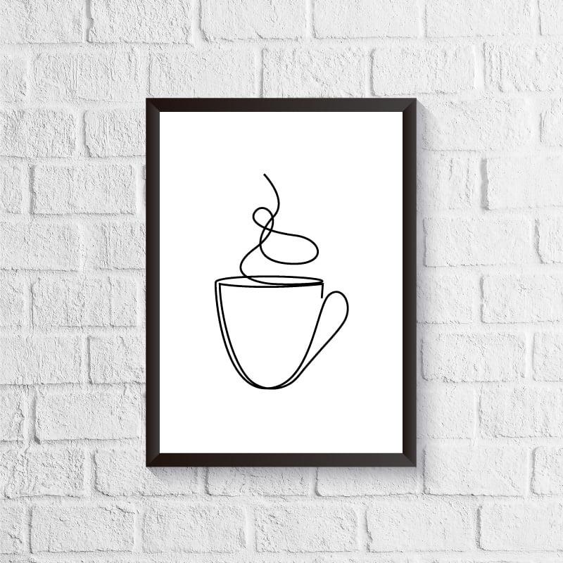 Quadro Café - Linhas