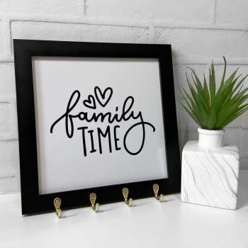 Quadro Porta Chaves - Family time