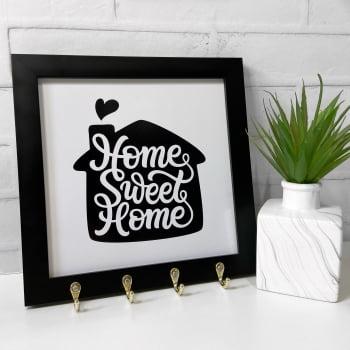 Quadro Porta Chaves - Home Sweet Home