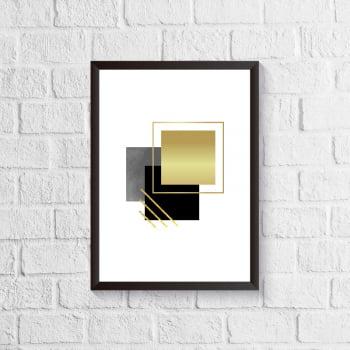 Quadro Abstrato - Dourado 2