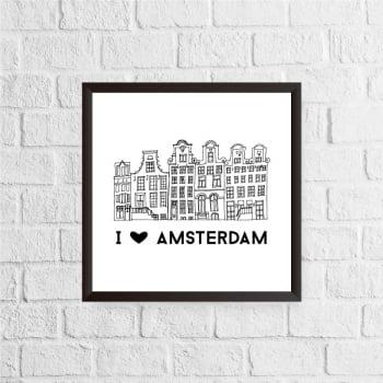 Quadro I Love Amsterdam