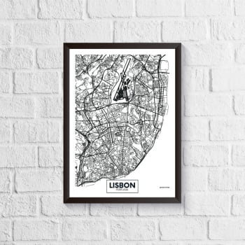 Quadro Mapa - Lisbon
