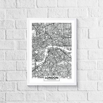 Quadro Mapa - London