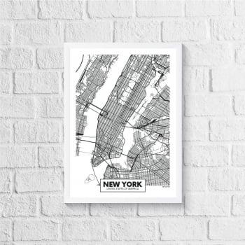 Quadro Mapa - New York