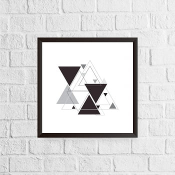 Quadro Triângulos Abstratos